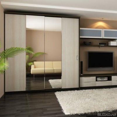 Мебель для гостиной на заказ от компании двери shop72 купить.