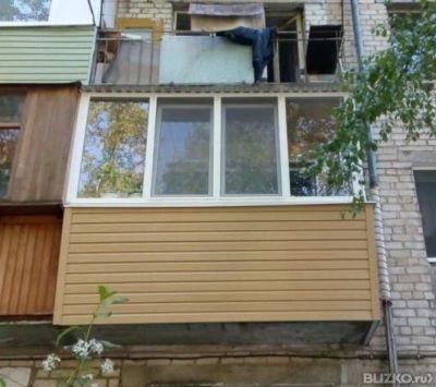 Остекление балкона 3м п-образн 2ст 2раб.створки хрущевка в т.
