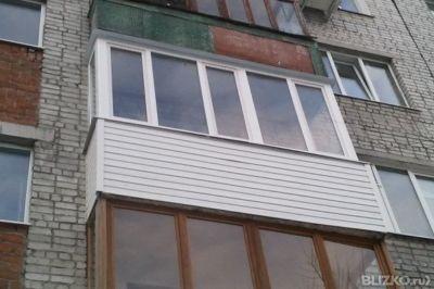 Остекление балкона 3м п-образн 2ст 3раб.створки 121-3т 7тс в.