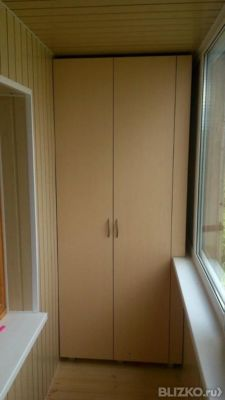 Встроенный шкаф из лдсп на балкон в тюмени. цена товара от 3.