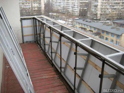 Балконы с выносом при остеклении пвх, две технологии расшире.