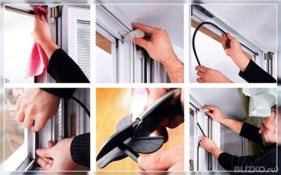 Замена уплотнителя на окна в казани