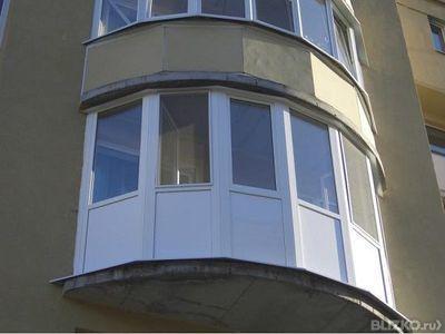 Остекление полукруглого балкона профилемproplex от компании.