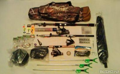 набор удочек для рыбалки
