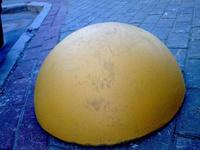 Полусферы бетонные 500*250 желтые, ограничители парковки