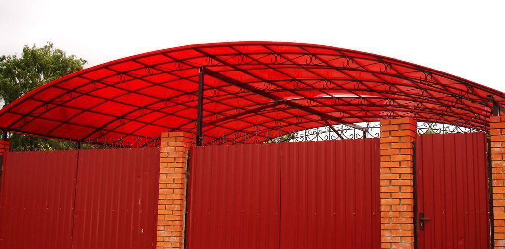 красный поликарбонат для теплицы отзывы